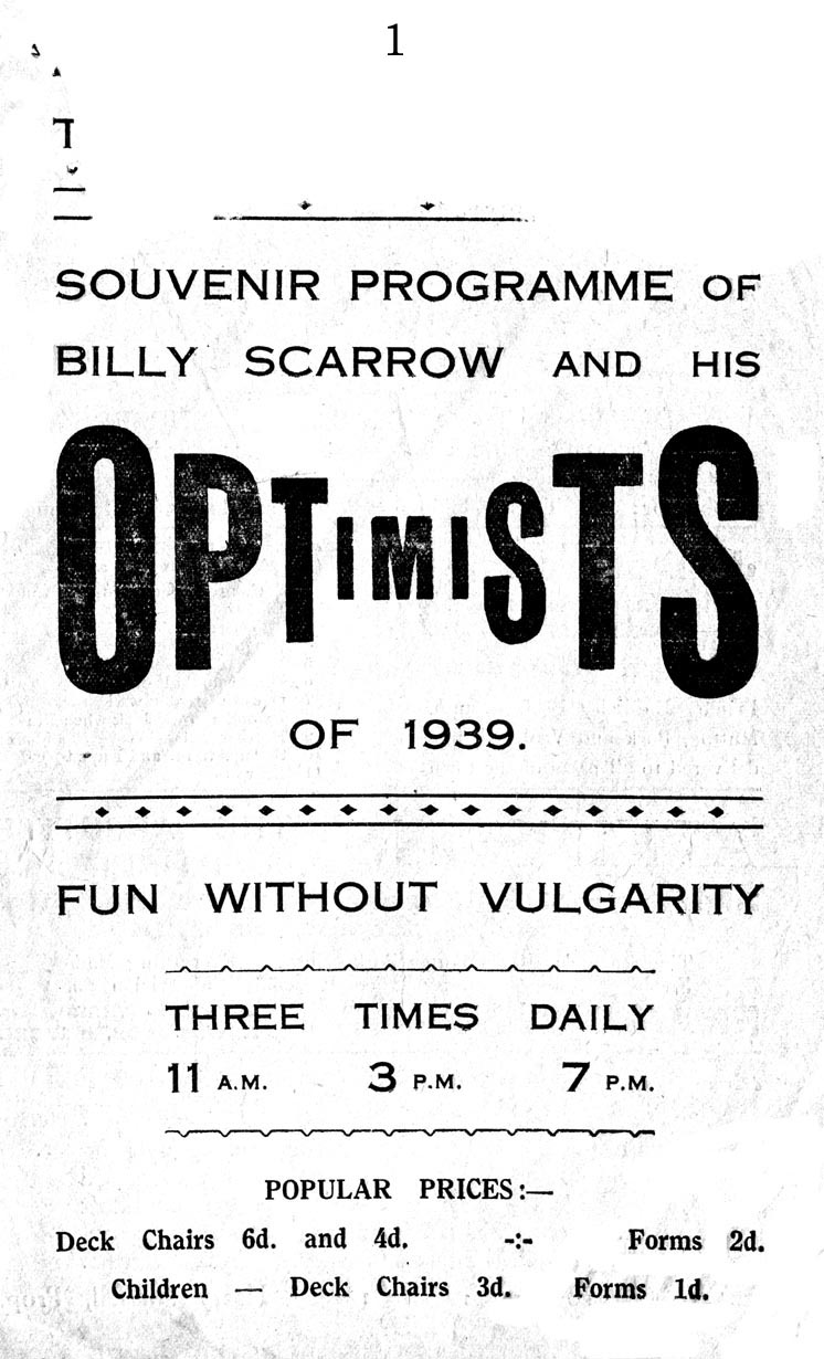 Optimists of 1939 Programme