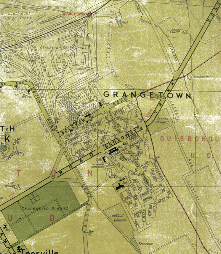 Map of Grangetown in 1950