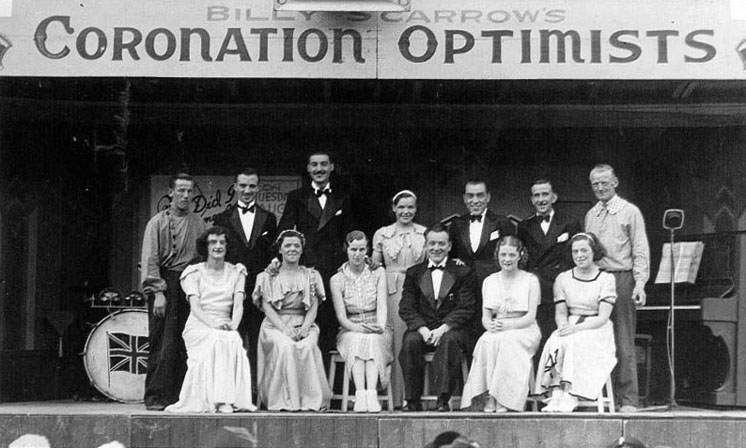 Billy Scarrow's Coronation Optimists, Redcar 1937