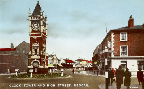 Redcar Clock Tower and High Street